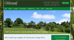 Preview of oakwoodlodges.co.uk