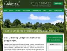 Tablet Preview of oakwoodlodges.co.uk